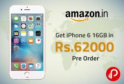 Get Apple iPhone 6 16GB in ₹62000 - Amazon