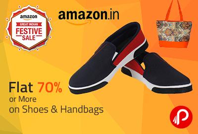 Flat 70% or More on Shoes & Handbags - Amazon