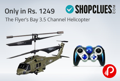 The Flyer's Bay 3.5 Channel Helicopter Only in Rs. 1249 - Shopclues