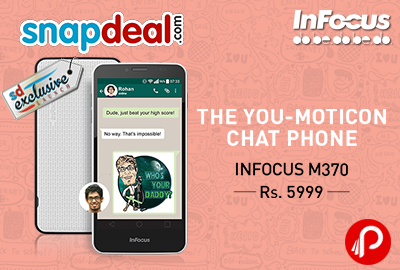 InFocus M370 Mobile Now Exclusively Launched on Snapdeal, Register Now!