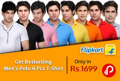 Get Bestselling Men's Polo 8 Pcs T-Shirt only in Rs.1699 - Flipkart