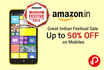 Great Indian Festival Sale | Up to 50% off on Mobiles - Amazon