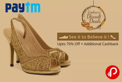 Get Upto 70% off + Upto 30% Cashback on Carlton London Ladies Footwear - Paytm