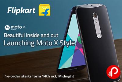 Launching Moto X Style Pre-Order Starts on Flipkart