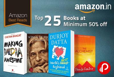 Get Minimum 50% off on Top 25 Books - Amazon