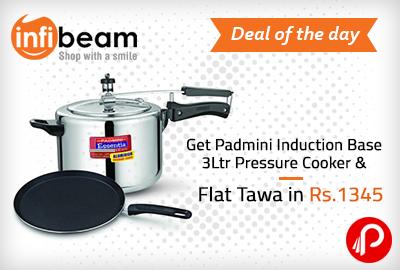 Get Padmini Induction Base 3Ltr Pressure Cooker & Flat Tawa in Rs.1345 - Infibeam