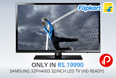 Only in Rs.19990   Samsung 32FH4003 32inch LED TV (HD Ready) - Flipkart