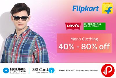 Get 40%- 80% off on Men's Clothing - Flipkart