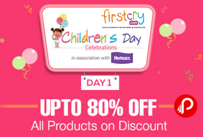 Get 80% Off All Products on Discount | Children's Day - Firstcry