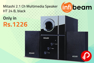 Mitashi 2.1 Ch Multimedia Speaker HT 24 B, black only in Rs.1226 - Infibeam
