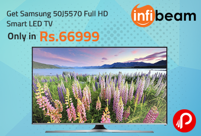 Get Samsung 50J5570 Full HD Smart LED TV only in Rs.66999 - Infibeam