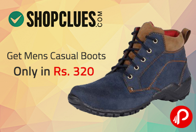 Get Mens Casual Boots only in Rs. 320 | Shopclues Exclusive - Shopclues