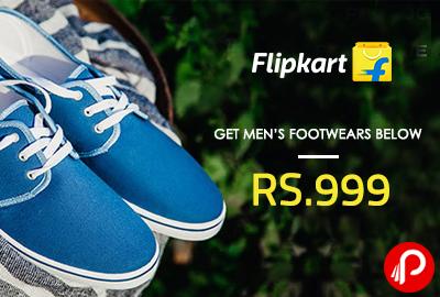 Get Men's Footwears Below Rs.999 - Flipkart