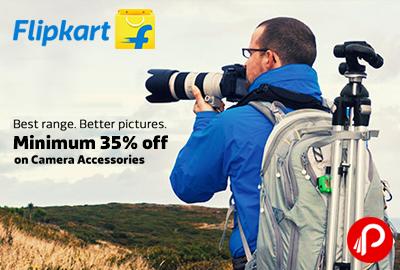 Get Minimum 35% off on Camera Accessories - Flipkart