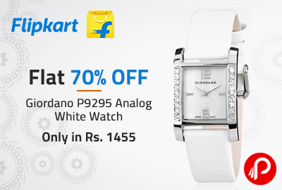 Giordano P9295 Analog White Watch Only in Rs. 1455   Flat 70% OFF - Flipkart
