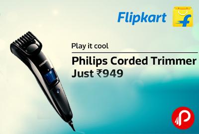 Just in Rs.949 Philips BT3200/15 Corded Beard Trimmer - Flipkart