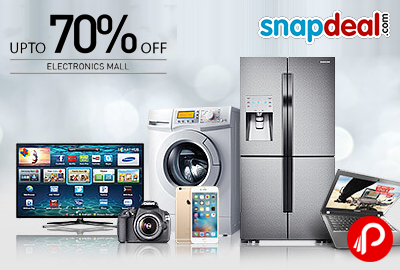 Get UPTO 70% off on Electronics Mall | Ultimate Monday - Snapdeal