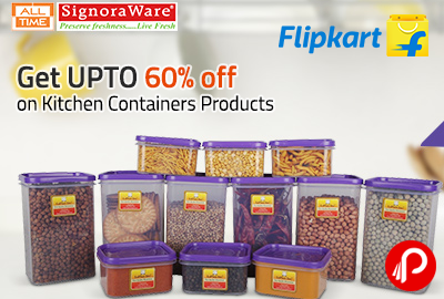 Get UPTO 60% off on Kitchen Containers Products - Flipkart