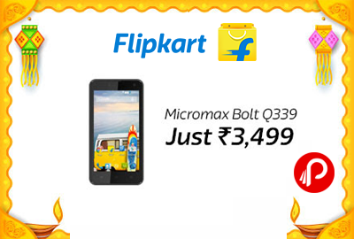 Get Only in Rs.3499 Micromax Bolt Q339 Mobile Phone - Flipkart