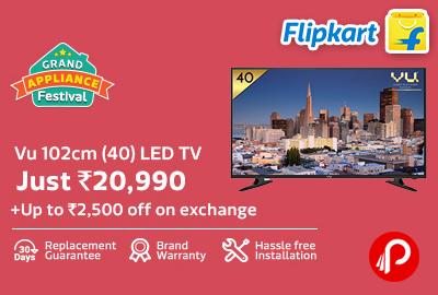 Only in Rs.20990 Vu 102cm (40inch) LED TV - Flipkart