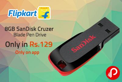 Only in Rs.129 8GB SanDisk Cruzer Blade Pen Drive - Flipkart