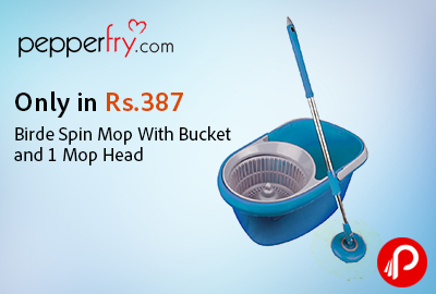 Only in Rs.387 Birde Spin Mop With Bucket and 1 Mop Head - Pepperfry