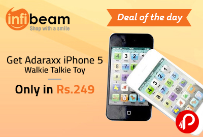 Get Adaraxx iPhone 5 Walkie Talkie Toy only in Rs.249 - Infibeam
