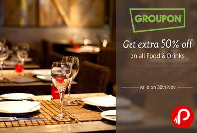 Get Extra 50% off on All Food & Drinks Deals - Nearbuy