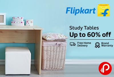 Get UPTO 60% off on Study Tables - Flipkart