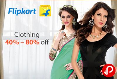 Get 40% - 80% off on Women's Clothing - Flipkart