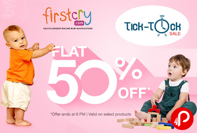 Get Flat 50% off on Toys   Tick Tock Sale - FirstCry