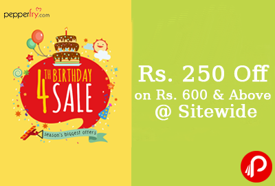 Rs. 250 Off on Rs. 600 & Above @ Sitewide - Pepperfry