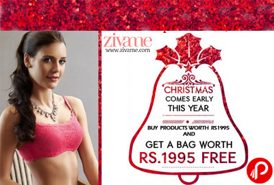 Get a Bag Free worth Rs.1995 on Buy Products of Rs.1995 | Christmas Special - Zivame