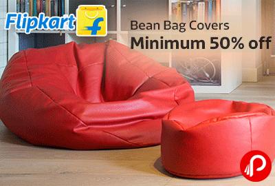 Get Minimum 50% off on Bean Bag Covers - Flipkart