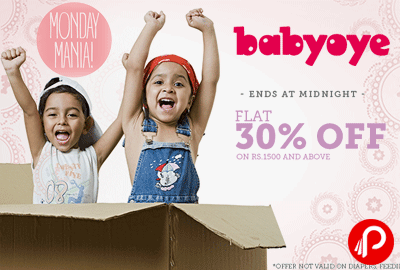 Get Flat 30% off on All Products | Monday Mania - Babyoye