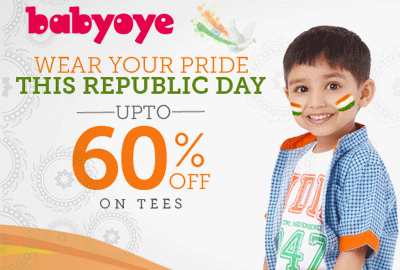 Get UPTO 60% off Tees Shirts | Republic Day Sale - Babyoye