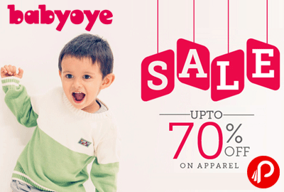 Get UPTO 70% off on Apparel Clothes – Babyoye