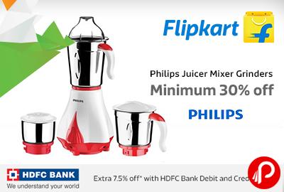 Philips Juicer Mixer Grinders Minimum 30% off | Republic Day Sale – Flipkart