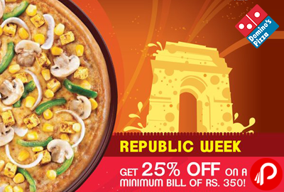 Pizza Festival Enjoy 25% off on Pizza and Breads - Domino's Pizza