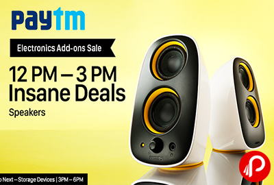 Get UPTO 40% off Insane Deals on Speakers Electronic Add Ons Sale | 12PM - 3PM - Paytm