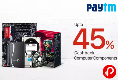 Get UPTO 45% Cashback on Computer Accessories | Electronic Add-ons Sale - Paytm