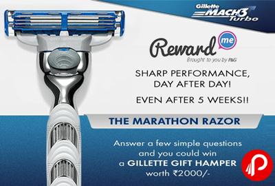 Win a Gillette Gift Hamper Worth Rs.2000   The Marathon Razor - RewardMe