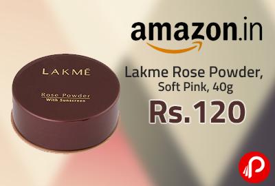 Lakme Rose Powder, Soft Pink, 40g at Rs. 120   Lightning Deal - Amazon