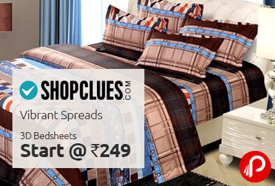 3D BedSheets Start @ Rs.249 | Vibrant Spreads - Shopclues