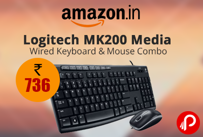 Logitech MK200 Media Wired Keyboard and Mouse Combo
