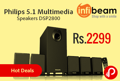 Philips 5.1 Multimedia Speakers DSP2800 at Rs.2299 | Hot Deals - InfiBeam