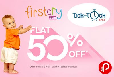 Flat 50% on Toys   Tick-Tock Sale - Firstcry