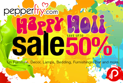Happy Holi Sale Upto 50% + 15% Cashback Mobikwik - Pepperfry