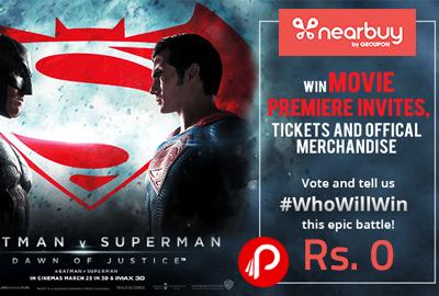Batman v Superman - Pick Your Hero & Get a Free Movie Premiere Invite!