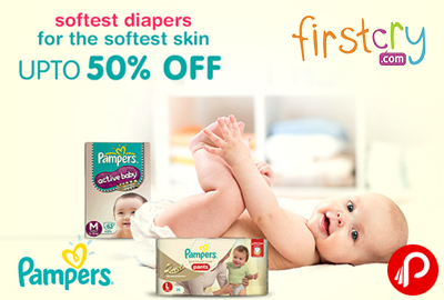 Pampers Diapers Upto 50% off - Firstcry